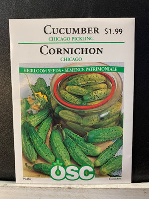 Chicago Pickling Cucumber Seeds