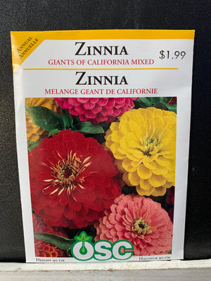 Load image into Gallery viewer, Giants of California Mixed Zinna Seeds