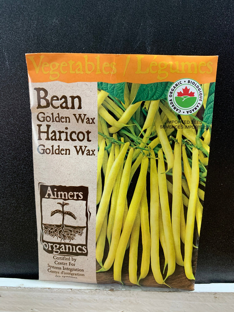 Load image into Gallery viewer, Organic Golden Wax Bean Seeds