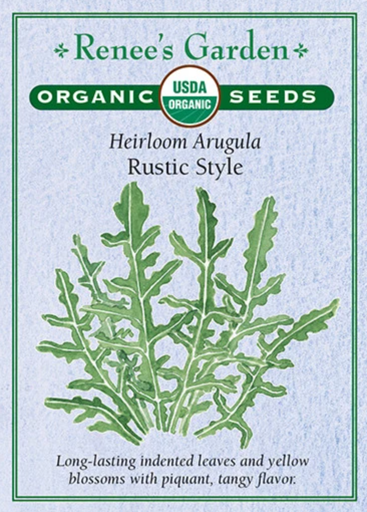 Load image into Gallery viewer, Organic Heirloom Arugula -Rustic Style