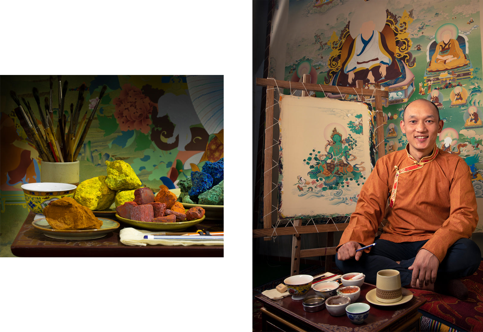 stone color for thangka painting