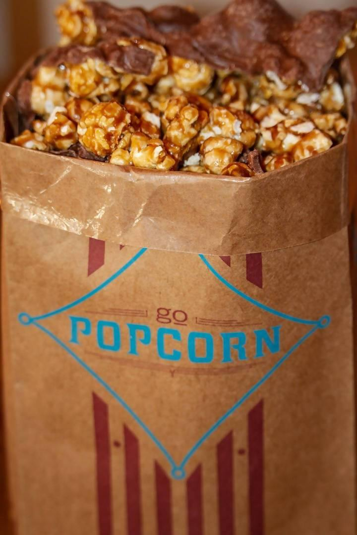 Go Popcorn Philly Chocolate Caramel Corn- 12 oz - FLOWS Grocery