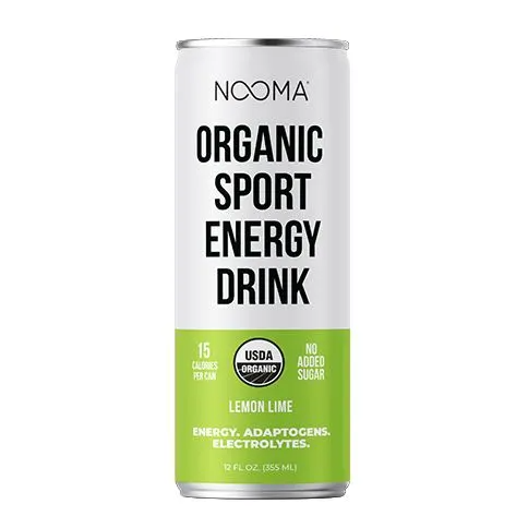 NOOMA Organic Pre-Workout Energy Drinks - Lemon Lime 4-pack - FLOWS Grocery