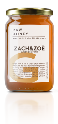 Zach and Zoe Wildflower Honey with Ginger Root-16 oz - FLOWS Grocery