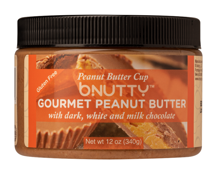 bNutty Peanut Butter Cup Gourmet Peanut Butter-12oz - FLOWS Grocery