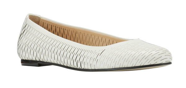 Blaire: White Accordion Soft Leather