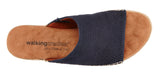 Henna: Navy Stamped Nubuck LIMITED STOCK