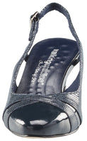 Intrigue: Navy Patent Lizard Print/Patent