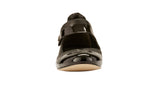 Kelsey-2: Black Leather/Black Patent LIMITED STOCK