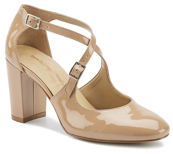 Mariah: Nude Patent Leather