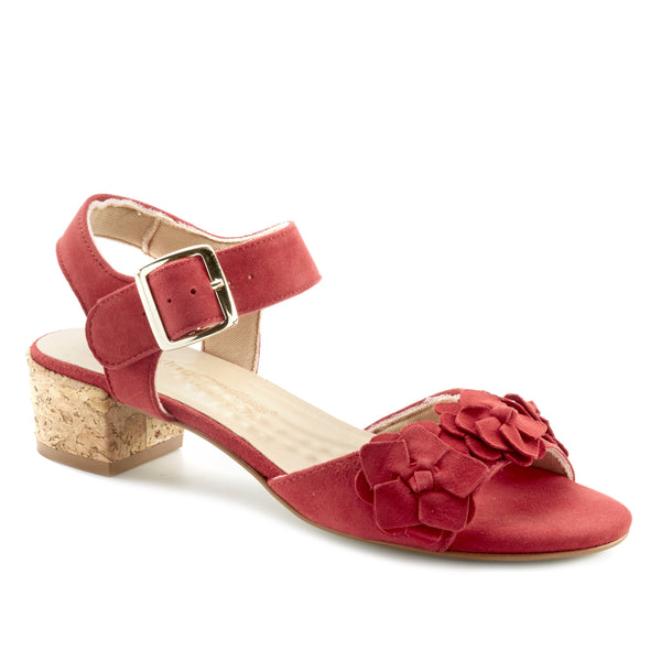Michelle: Red Suede LIMITED STOCK