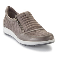 Orion: Slate Gray Matte Snake Print/Nubuck/Leather