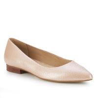 Reece: Blush Snakeskin Print Leather