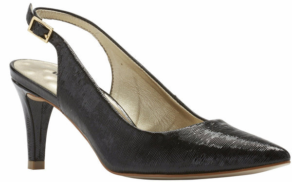 Sidney: Black Bambu Patent Leather