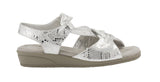 Valerie: White & Silver Snake Print Leather LIMITED STOCK