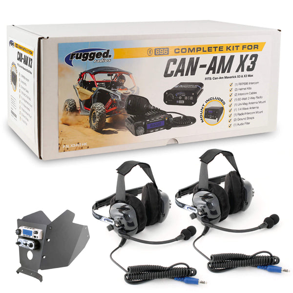 Complete Headset UTV Kit for Can-Am X3 & X3 Max - Dash Mount