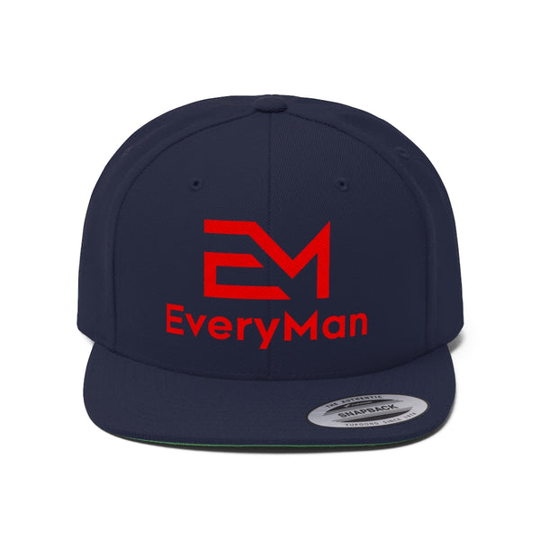 EveryMan Flat Bill Hat (Embroidered)