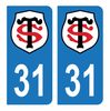 Autocollant Plaque d'immatriculation 31 Club Stade Toulousain