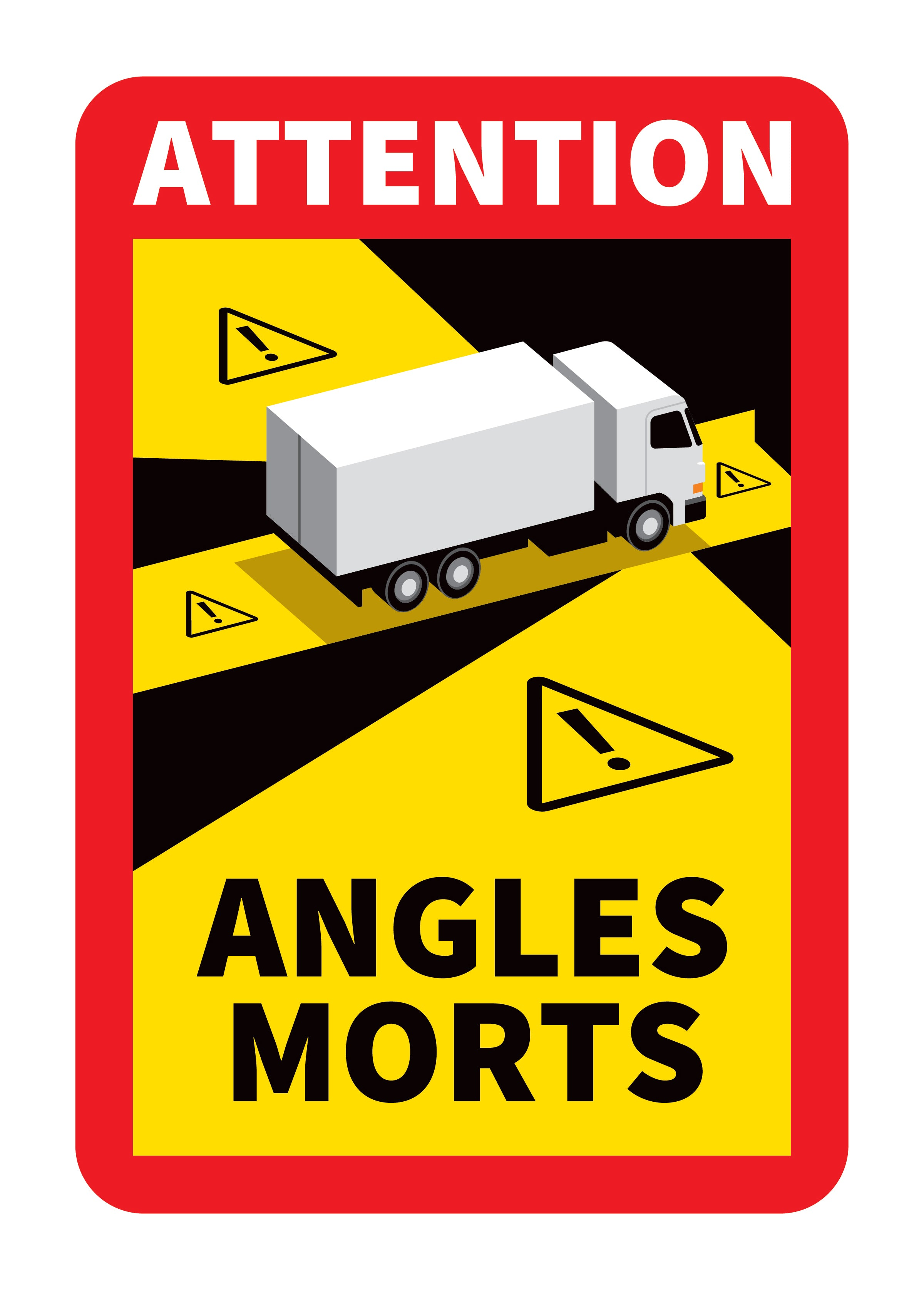 Autocollant Danger Angles Morts