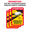 Lot 3 Autocollant Danger Angles Morts