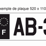 Autocollant Plaque d'immatriculation Voiture France F