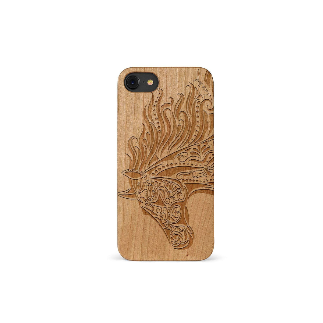 Horse Head Wood Case