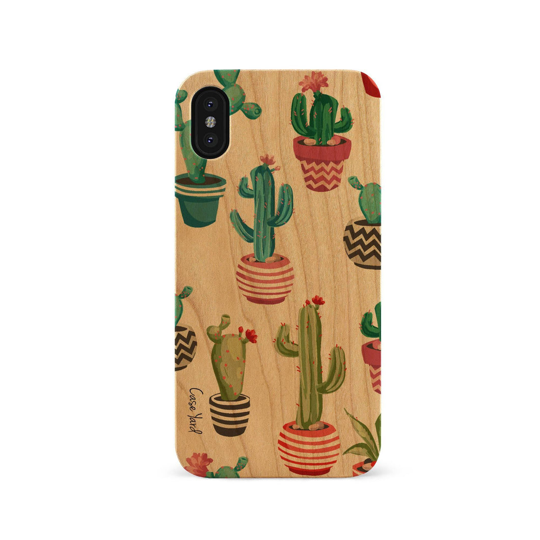 Cute Cactus UV Colored Wood