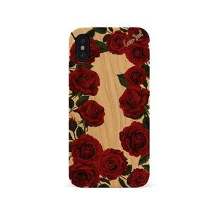 Red Roses UV Colored Wood