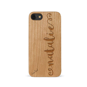 Custom Design Personalized Wooden Cell Phone Case iPhone & Samsung Models