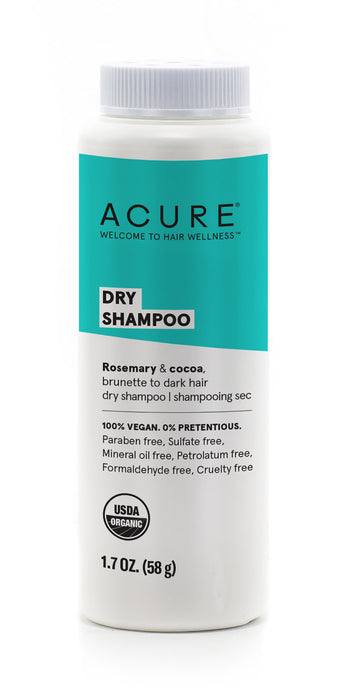 Dry Shampoo for Dark Hair With Rosemary And Cocoa by Acure 58 grams
