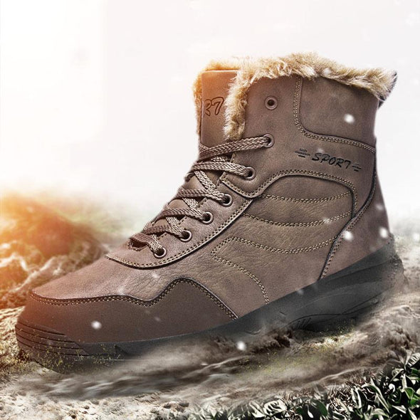 Winter Super Warm Waterproof Snow Boots with Fur