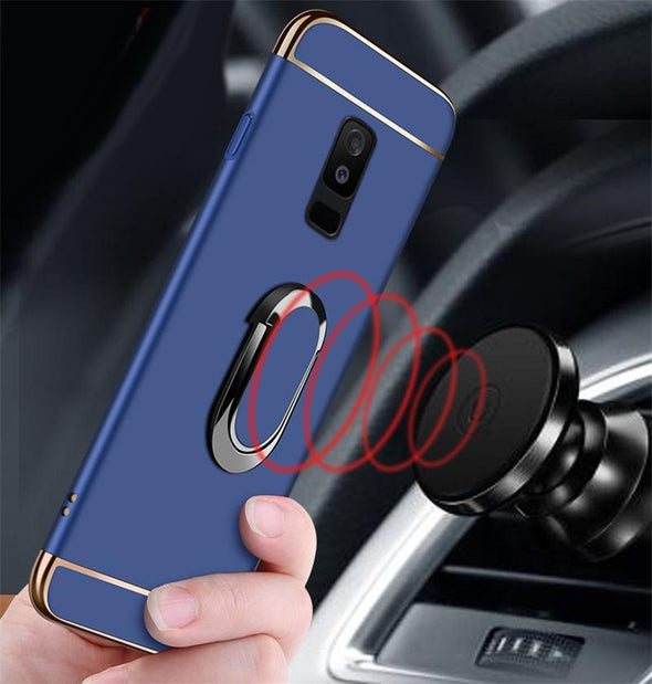 Luxury Magnetic Ring Ultra Thin Matte Hard PC Phone Case For Samsung