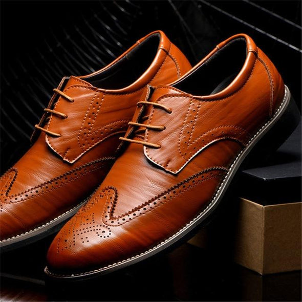 Men's Leather Oxford Business Formal Dress Shoes