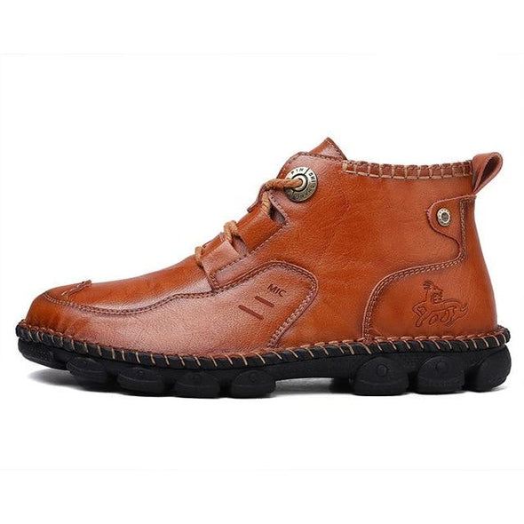 New Classic Genuine Leather Men High Top Shoes