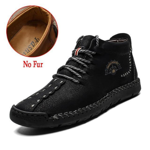 Lace-Up Waterproof Men's Ankle Boots