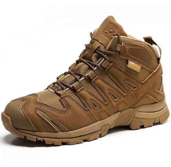 Quality Men's Leather + Mesh Sports Outdoor Hiking Trekking Tactical Shoes