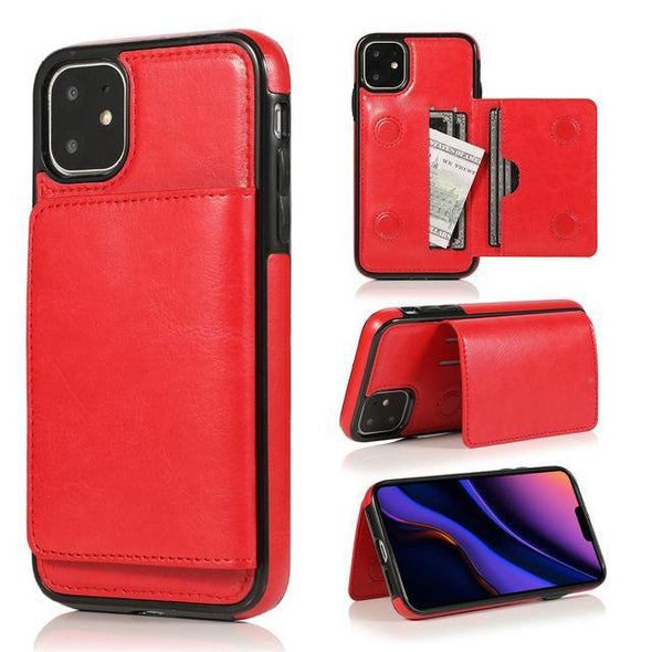 Card Slots Retro Leather Case For iPhone 11 11 Pro 11 Pro Max 7 8 6 6s Plus X Xs Max XR