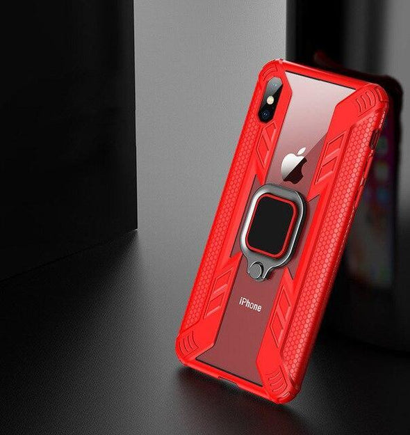Car Magnetic Phone Holder Ring Case on For iPhone 11 Pro max iphone XR X XS Max 7 8 plus