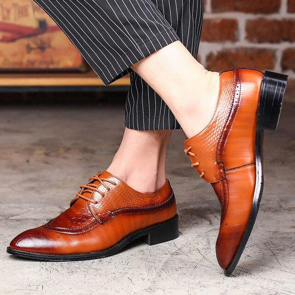 Men's Luxury Lace Up Bullock Oxfords Formal Shoes