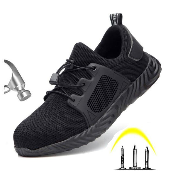 Men Steel Toe Anti Slip Puncture Proof Breathable Safety Work Shoes