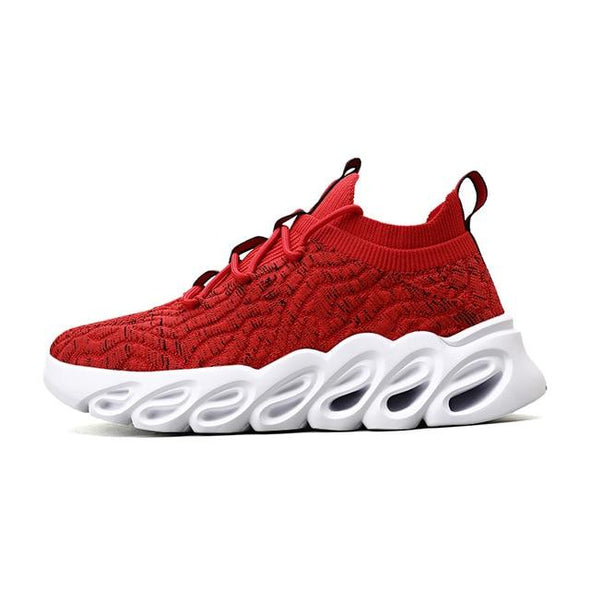 Mesh Breathable Fly Woven Lightweight Running Sneakers