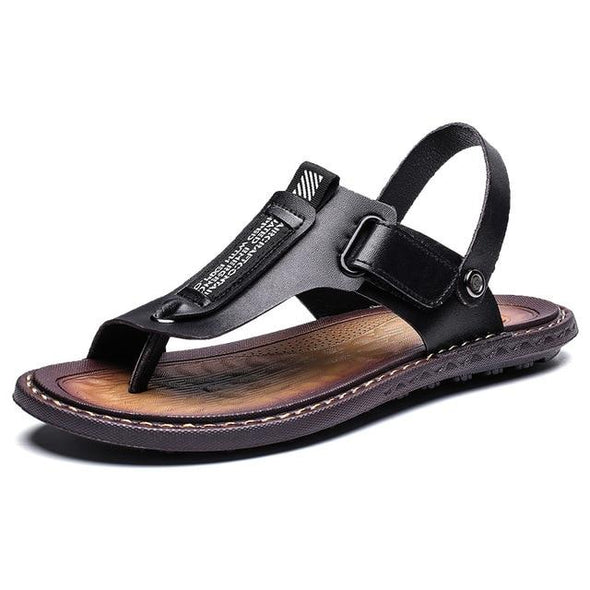 Men's Summer Genuine Cow Leather Casual Soft Sandals