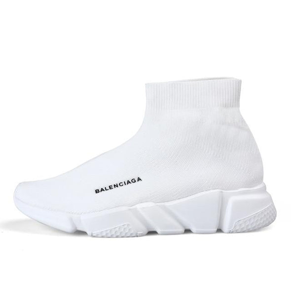 High Top Fly Weaving Unisex Slip On Casual Jogging Sock Sneakers
