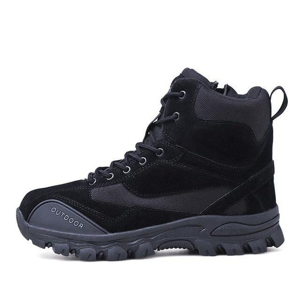 Men Genuine Leather Hunting Trekking Tactical Military Combat Boots