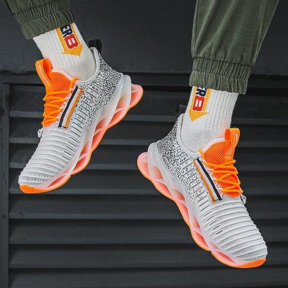 Men Fashion Trend Breathable Damping Jogging Shoes