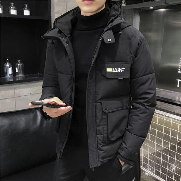 Men's Winter Parka Thicken Warm Hooded Casual Coat