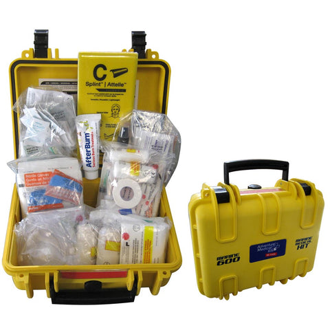 MARINE 600 FIRST AID KIT IN WATERPROOF CASE