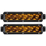"RIGID INDUSTRIES 6"" SR-SERIES SAE COMPLIANT FOG LIGHT - BLACK W/YELLOW LIGHT"