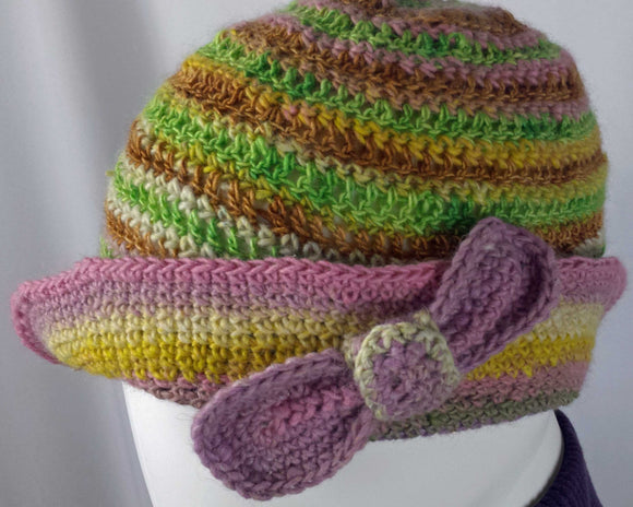 A201 Bamboo crocheted hat, SALE 20% off