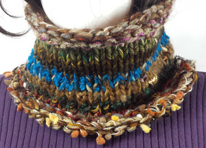 B109 Mixed fiber cowl scarf, SALE 20% off